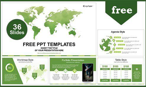 Global Business Map Powerpoint Template List Powerpoint
