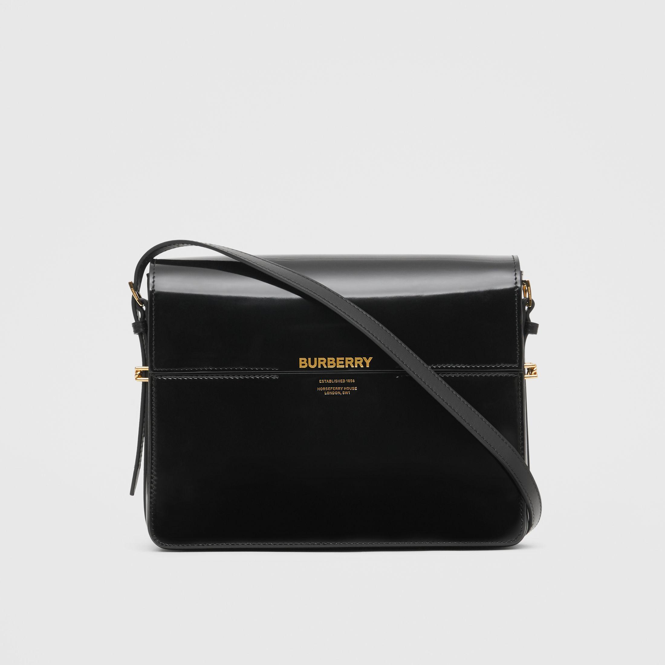 c5af585484 Burberry - SS19   Ricardo Tisci for Burberry black large leather Grace bag  ($1,290)