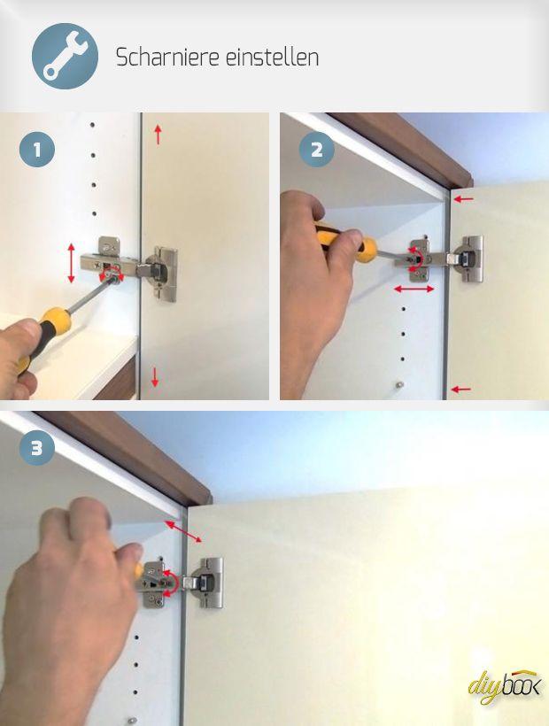 scharniere einstellen werkstatt schrankt ren m bel reparieren und schrankscharniere. Black Bedroom Furniture Sets. Home Design Ideas
