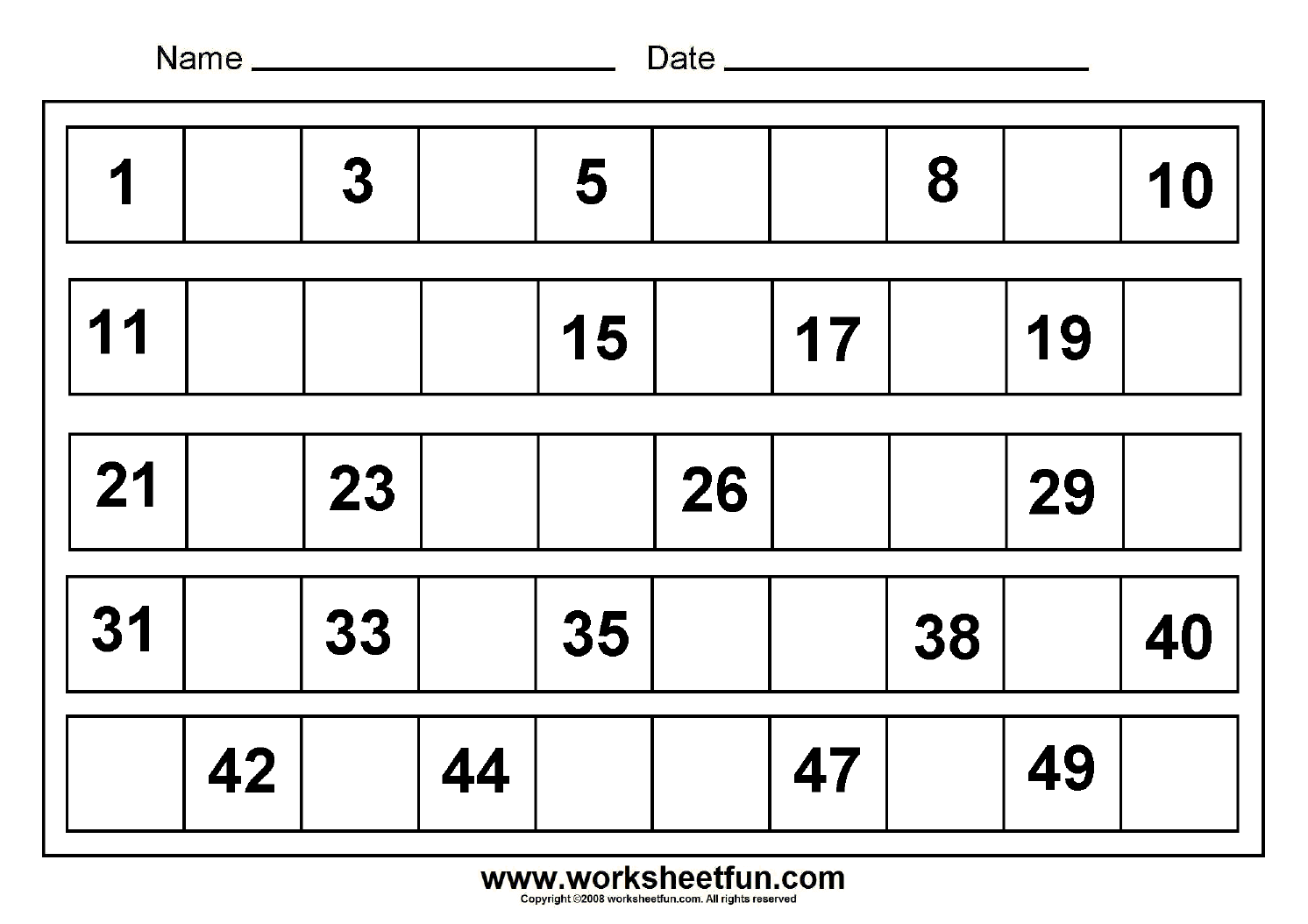 missing numbers 1 to 50 numbers kindergarten worksheets number worksheets kindergarten. Black Bedroom Furniture Sets. Home Design Ideas