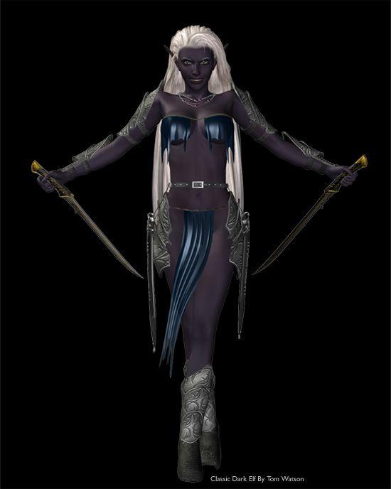 dark female elves nude