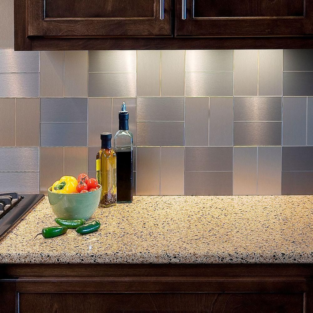 Decorative Tile Kitchen Backsplash Aspect Short Grain 3 Inx 6 Inmetal Decorative Tile Backsplash