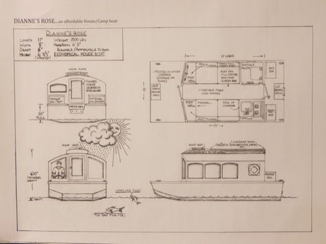 Man Designs Micro Houseboat You Can Build For Cheap House Boat