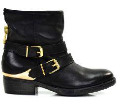 Poelman Dames Biker Boots Zwart Goud - Dames - Onlinesneakershop.nl | De leukste online schoenenwinkel van Nederland!