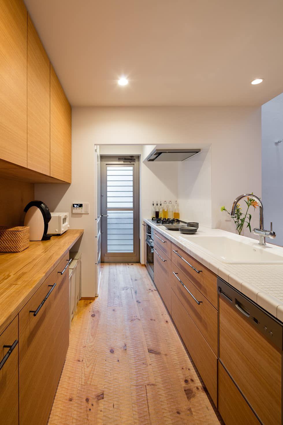 1f Ldk 和風の キッチン の 内海聡建築設計事務所 和風 キッチンの