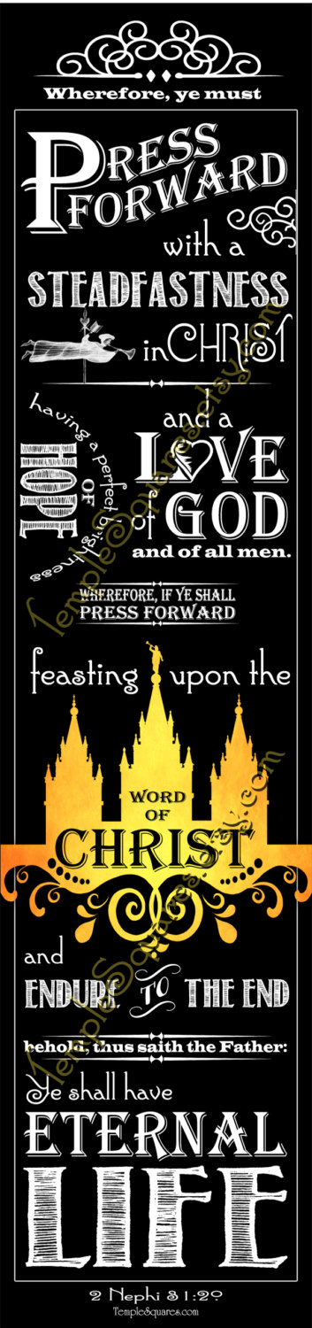 PRINTABLES Bookmarks LDS YW Young Women 2016 Theme Chalkboard style