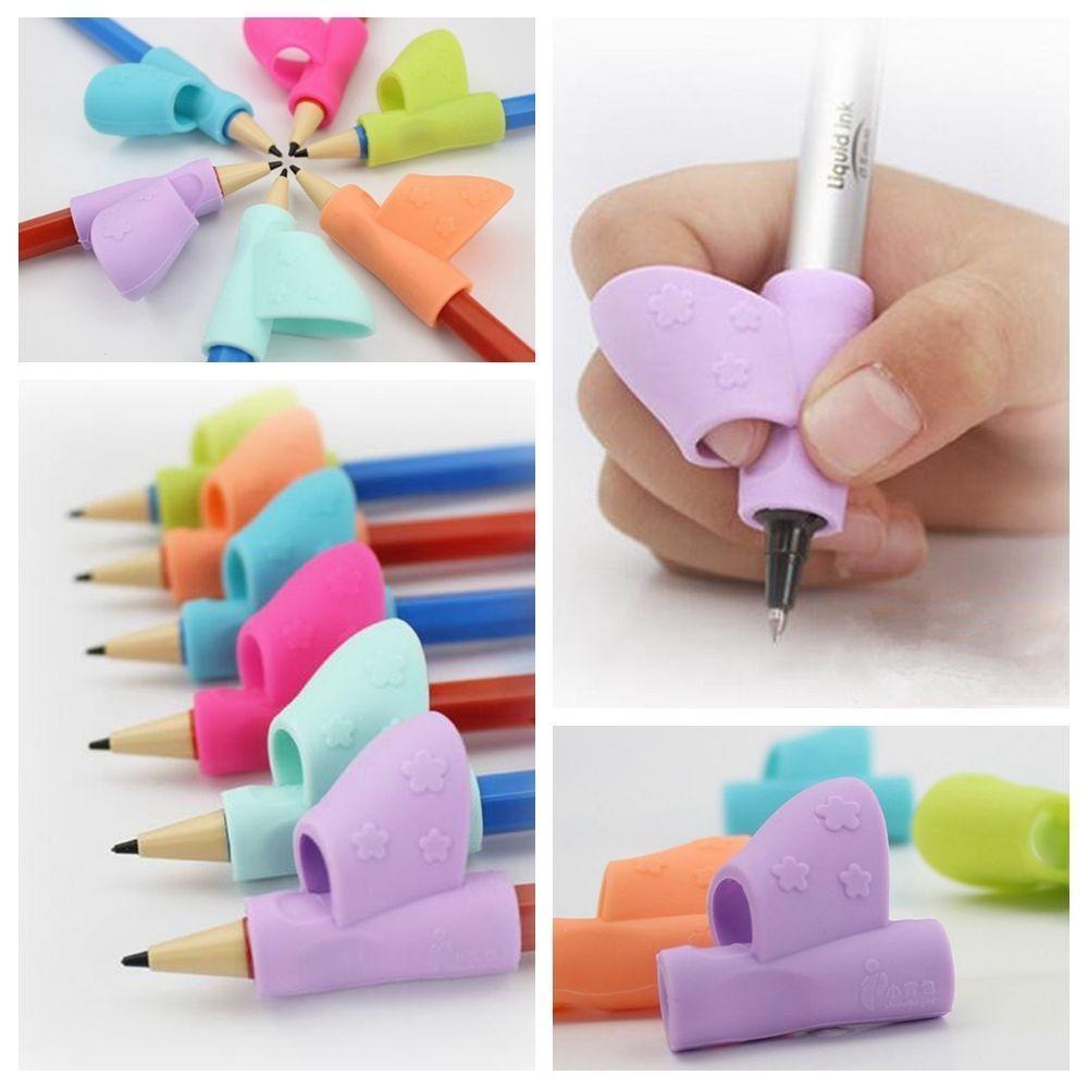 3Pcs Scientific Children Pencil Holder Pen Writing Aid Grip Posture CorrectionFT