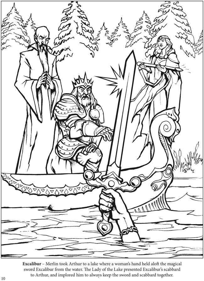 The Adventures Of King Arthur Coloring Book Dover Publications
