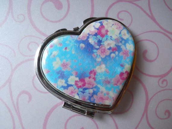 Polymer Clay Image Transfer Heart Shaped Pocket by NKDesigns, $15.00