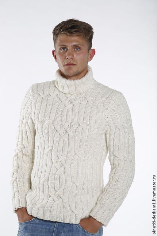 b74928c13353 Купить Мужской белый свитер - белый, кардиган, свитер, теплый, зимний, в  подарок мужчине