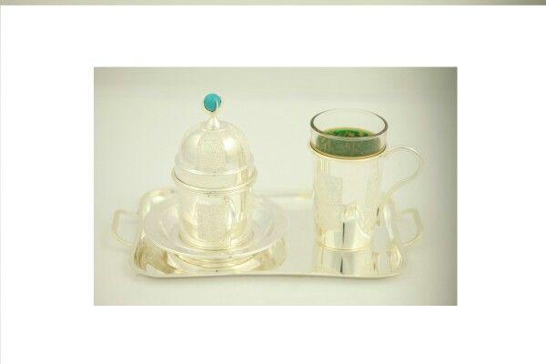 Tek kisilik kahve takımı - Hand made coffee set