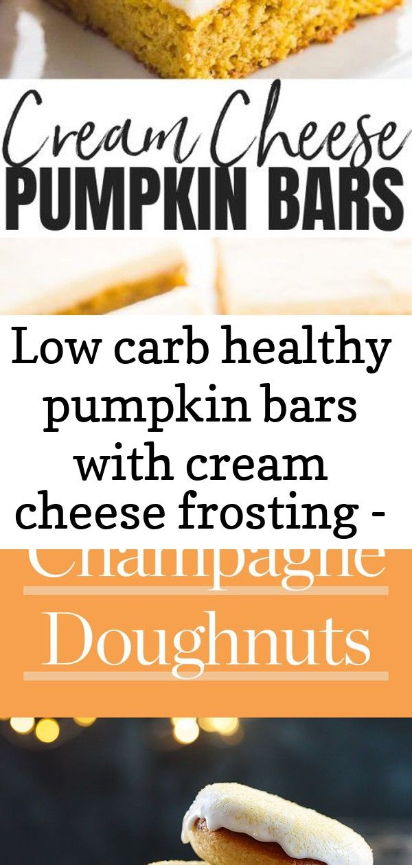 Low carb healthy pumpkin bars with cream cheese frosting - pinterest image #pumpkinshapedcake