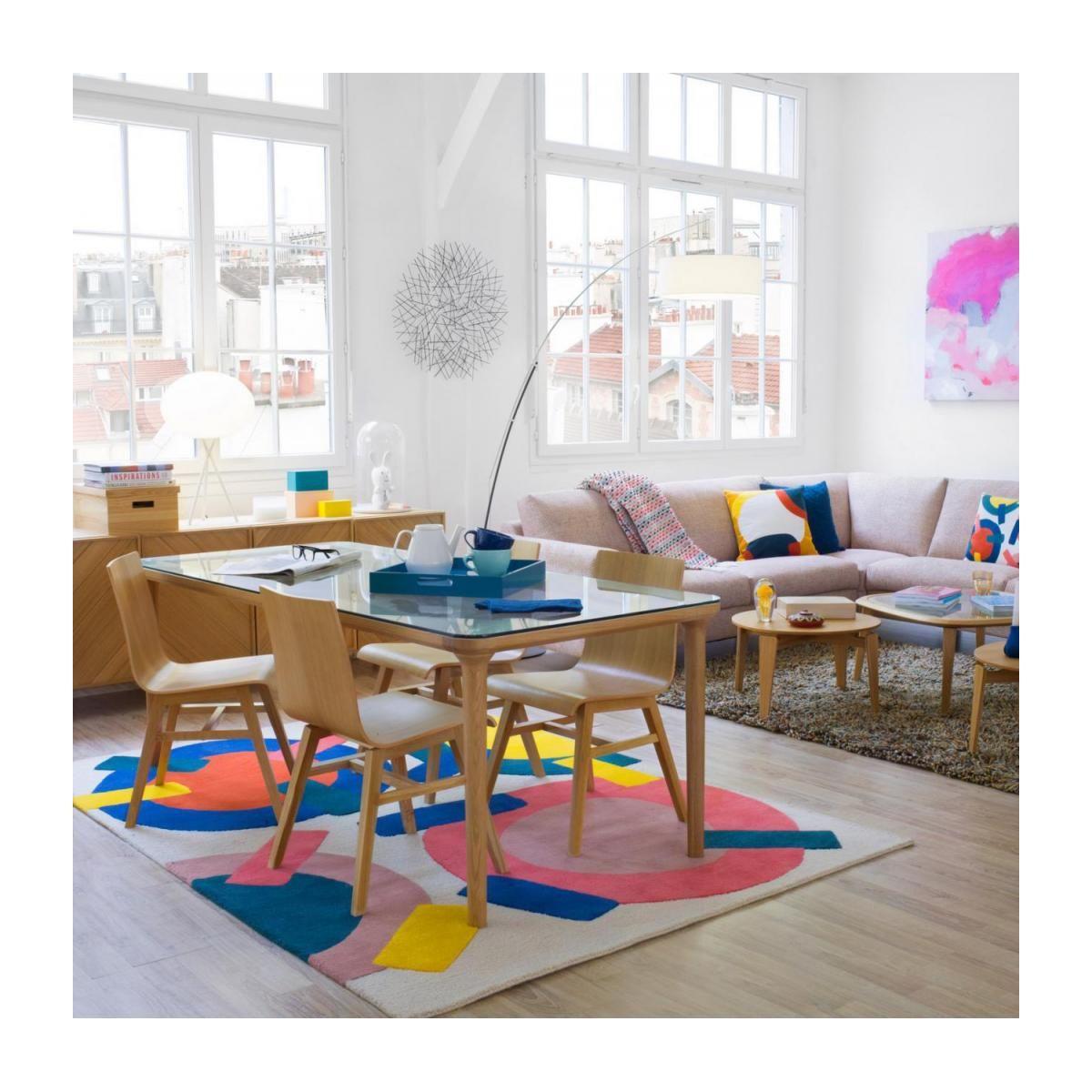 Table Verre Et Chene Design By Habitat Design Studio Table En Verre Habitat Table Habitat