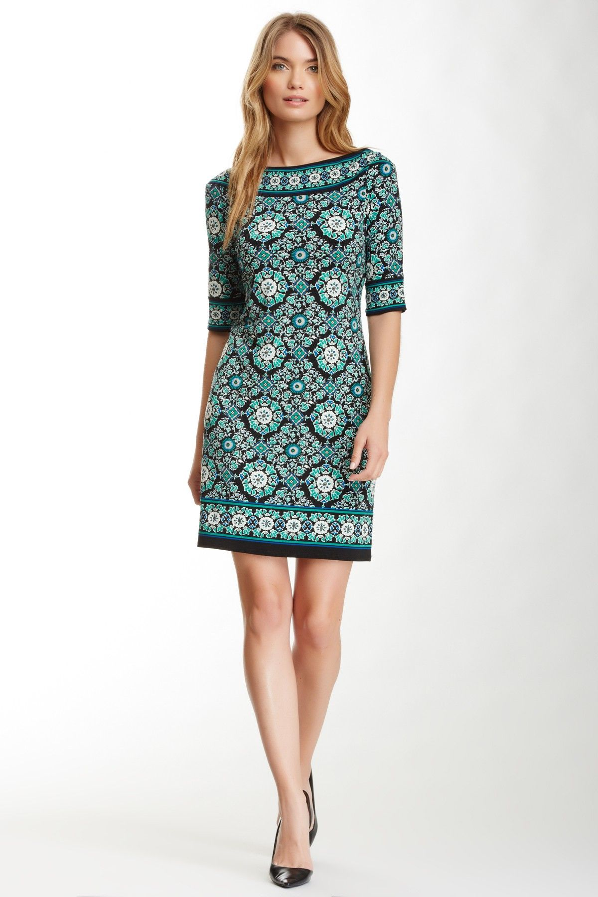 Max Studio Printed Shift Dress by Max Studio on @nordstrom_rack