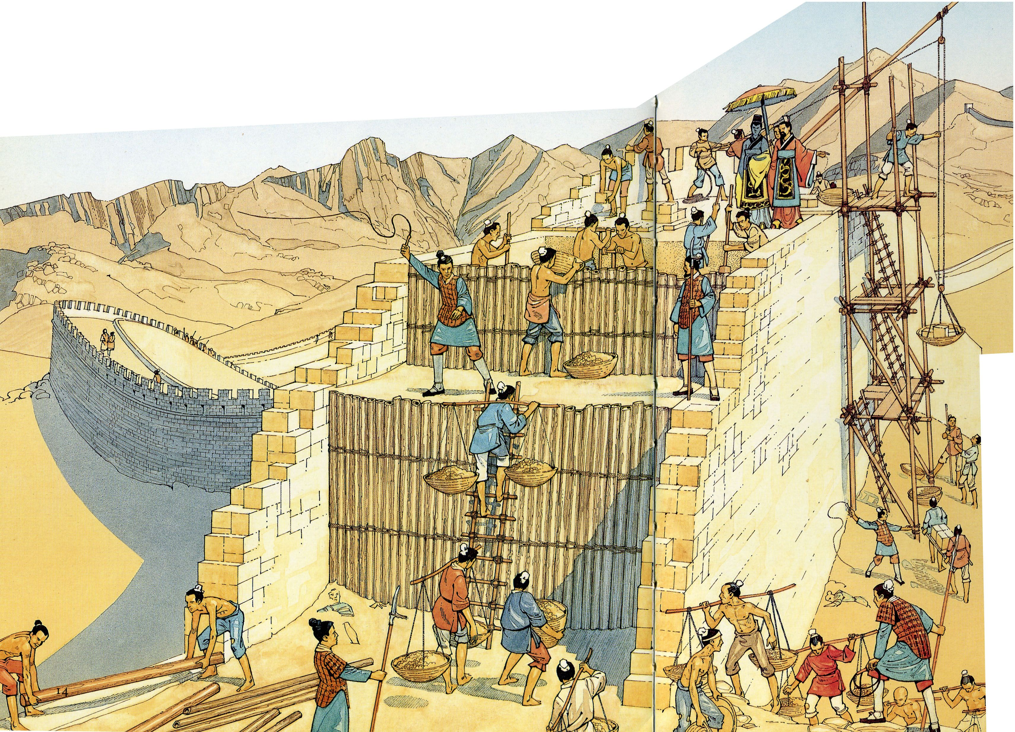 construction of the great wall architecture drawing on great wall of china id=80247