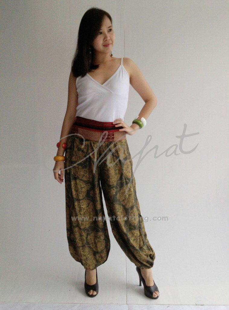 fd7d4aca648 Latest fashion colored pants Thai Rayon traditional trouser ...
