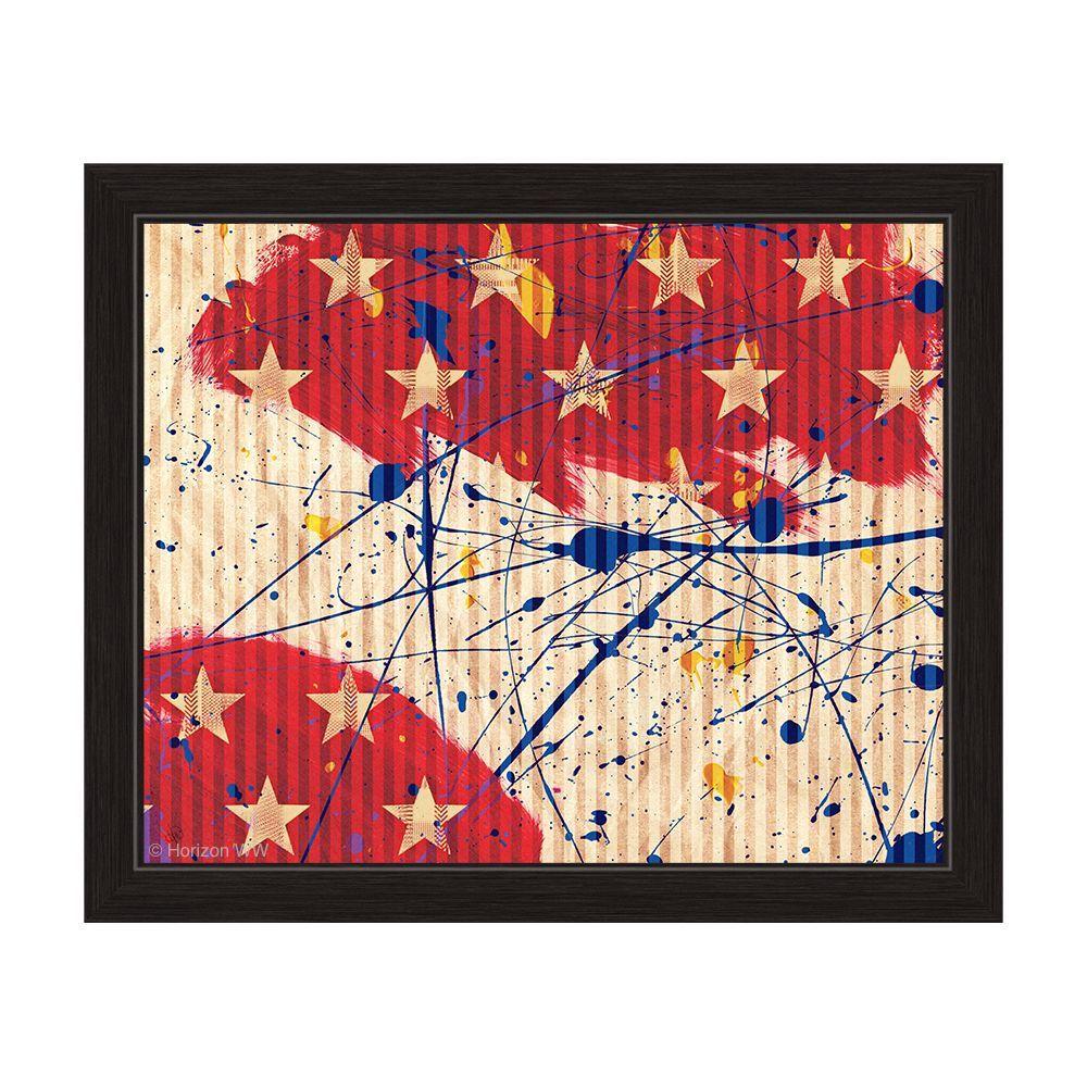 Horizon Stars and Splash' colored Framed Graphic Wall Art