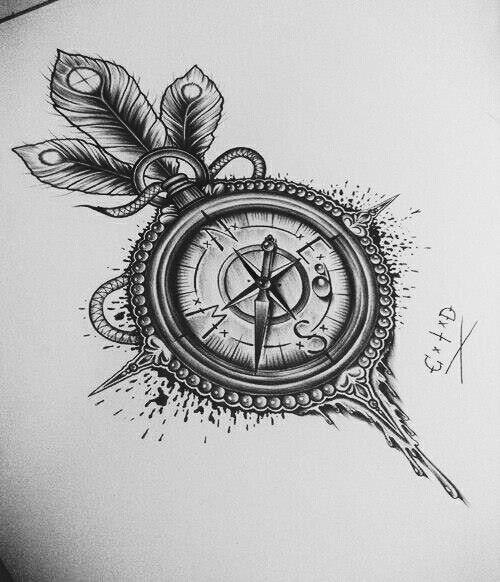 Brujula Brujulas Dibujo Brujulas Tattoo Y Dibujos A Lapiz