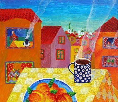 It' s coffee time ...!! Illustr : Olga kvasha