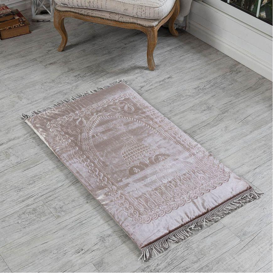سجادة صلاة فوم سادة لون بيج فاتح Bohemian Rug Beige Carpet