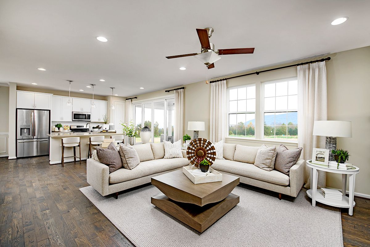 Charades Anyone Pearl Model Home Great Room Hagerstown Maryland Richmond American Homes Richmond American Homes Richmond American Home
