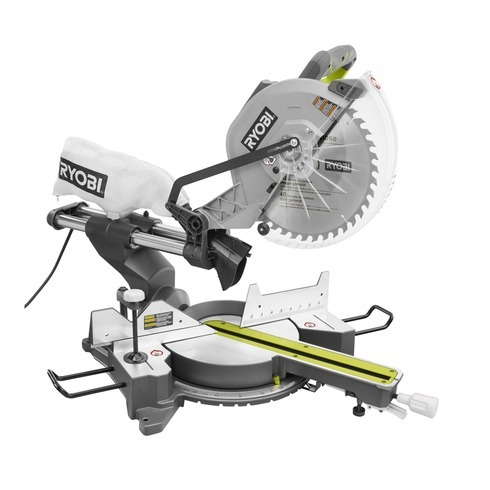 12 In Sliding Compound Miter Saw With Laser Ryobi Tools Sliding Mitre Saw Sliding Compound Miter Saw Woodworking Tools For Beginners