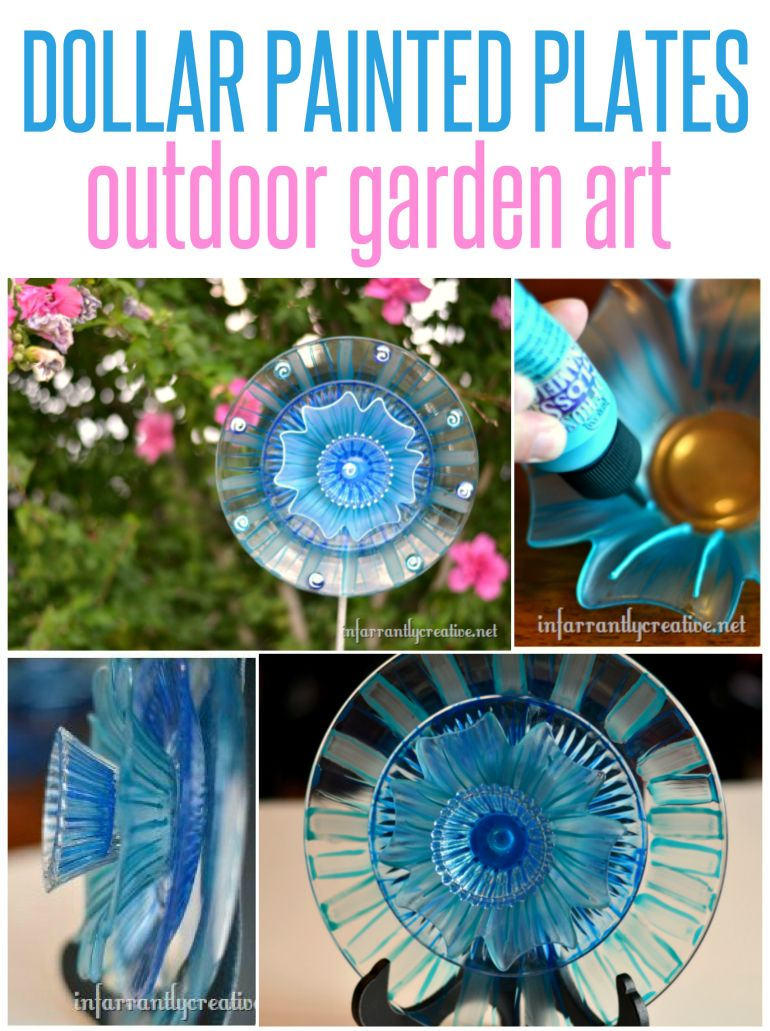 Garden Art Ideas For Kids painted plates garden art | flower art, pretty flowers and dollar