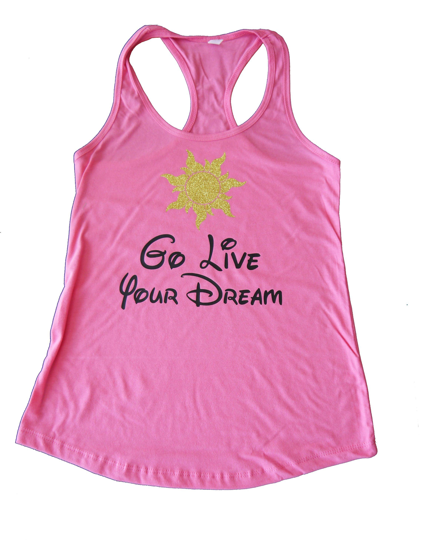 Go Live Your Dream Running Shirt Tangled Rapunzel Shirt Half Marathon Tangled Shirt Rapunzel Shirt Run Disney Tank Rapunzel Costume