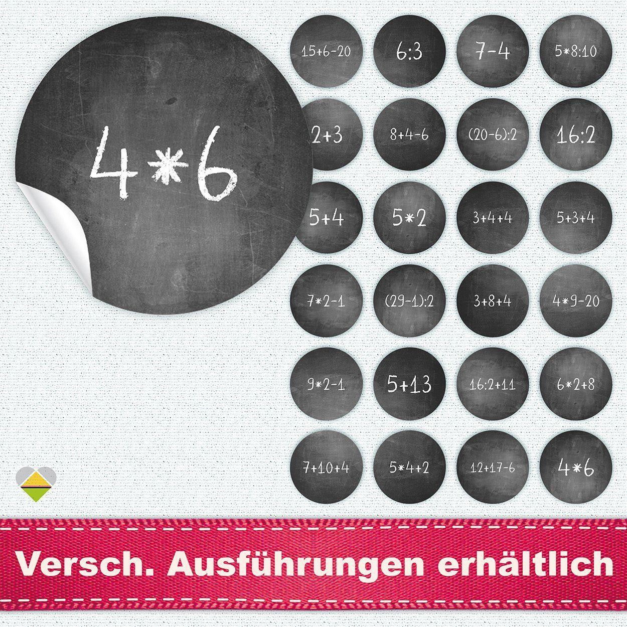 Adventskalender Zahlen Mathe amazon.de: 24 adventskalender-zahlen | kreidetafel / schultafel look