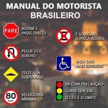Manual Do Motorista Brasileiro Imagens Engraçadas Frases