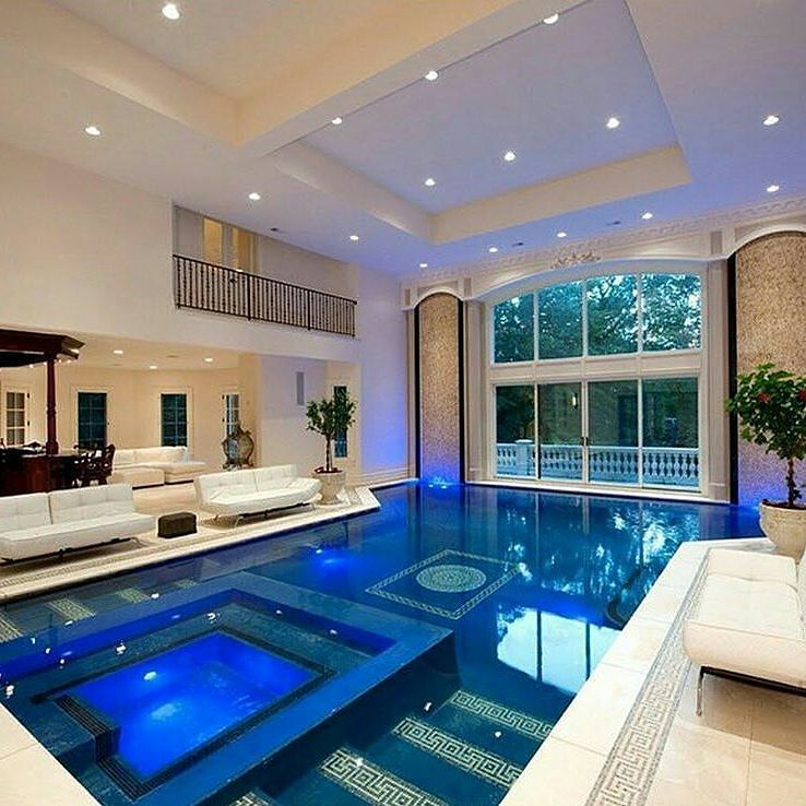 Beautiful Indoor Pool Double Tap Tag Someone Have Friends That Support You In What You Do And Have Your Back At All Dream House Luxury Homes Mansions