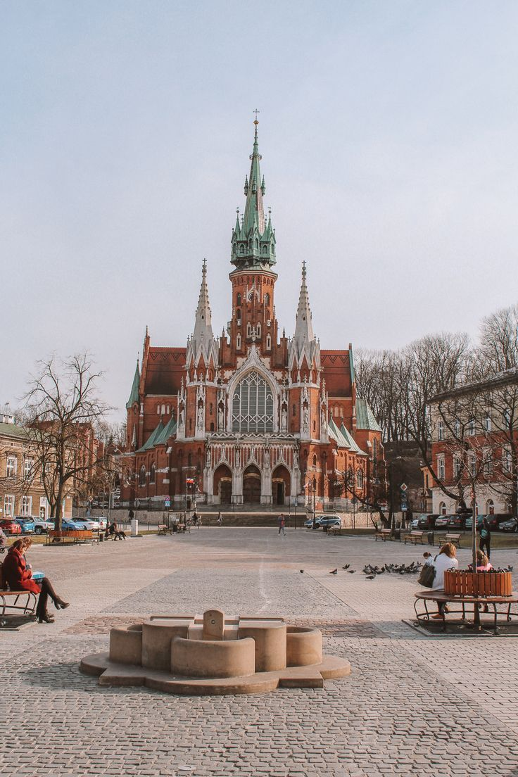 St. Joseph's Church is a historic Catholic church in the Podgórze district of Kraków, Poland. It is located on Podgórski Square on the northern slopes of the Krzemionki foothills in the south-central part of the city. #krakow #poland Best destinations to visit in Poland. Krakow Travel Guide. Poland Travel Guide. Best things to do in Krakow.