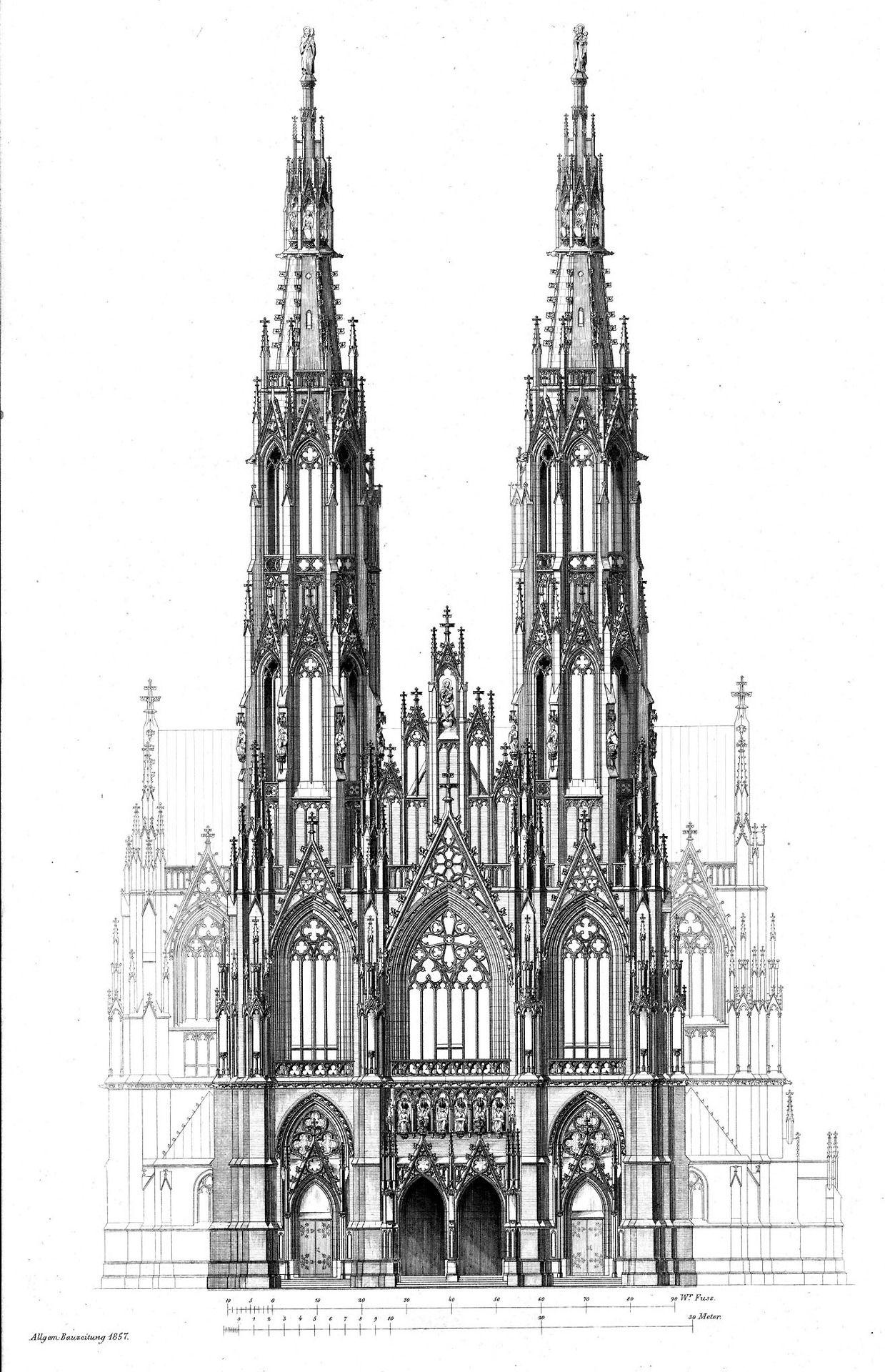 Design For The Votivkirche Vienna Mit Bildern Architektur Zeichnungen Architektur Gothische Architektur