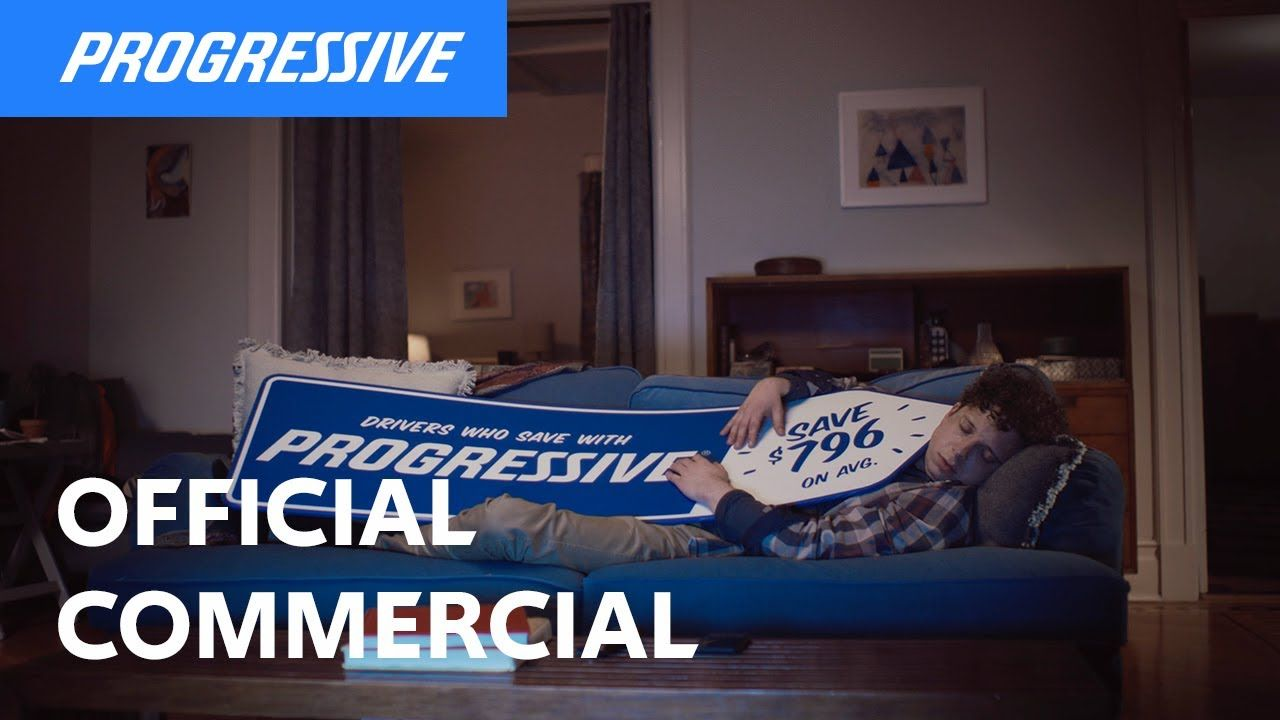 Sign Spinner Sleeping Progressive Insurance Commercial In 2020