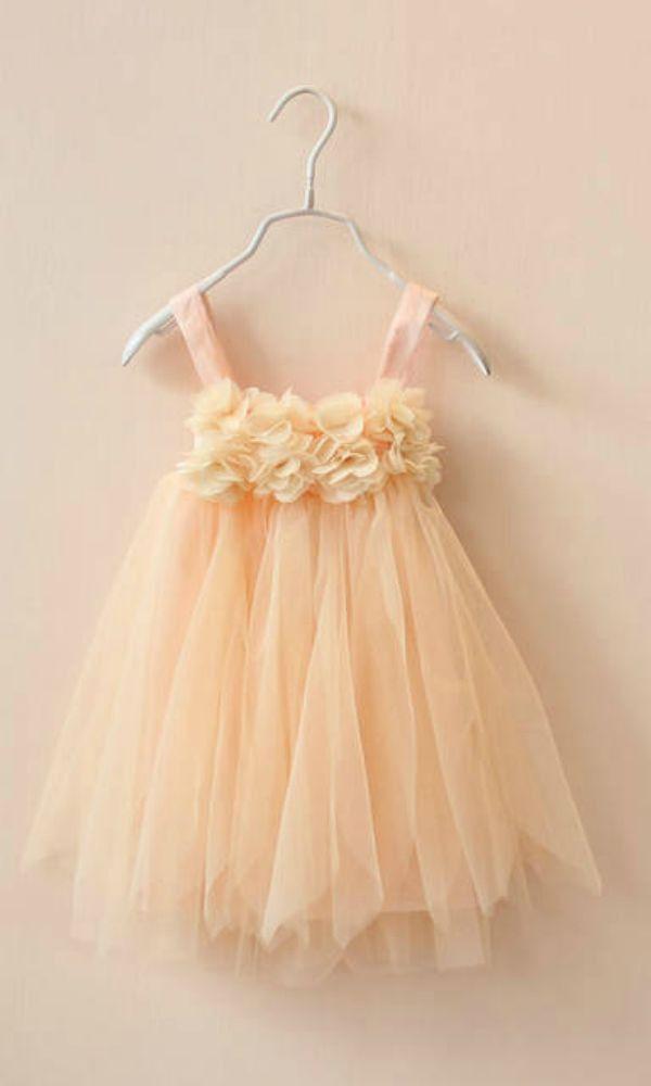 91b5932936d Summertime Tulle Dress Yellow Cream. Summertime Tulle Dress Yellow Cream Peach  Flower Girl ...