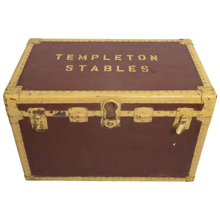 Tack Box Trunk Chest From The Stables At Templeton Estate Part Of The Collection Of Winston And C Z Guest In Long Island Tack Box Antique Trunk Templeton
