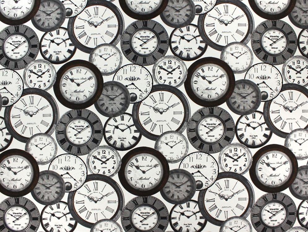 Dekostoff Uhren