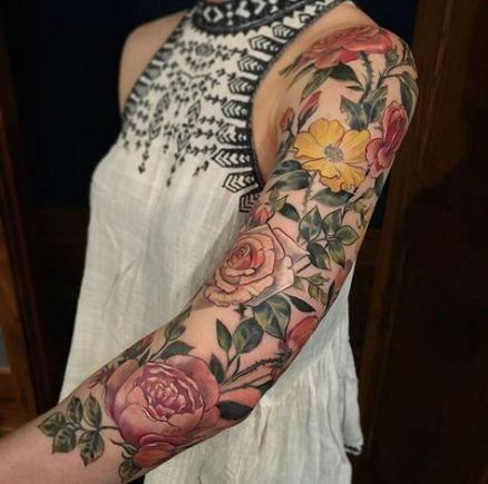 Nature Tattoo Sleeve Flowers Colour 53 Trendy Ideas