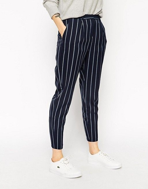 asos asos pantalon carotte taille haute rayures whishlist pinterest pantalon carotte. Black Bedroom Furniture Sets. Home Design Ideas