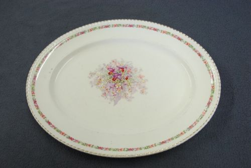 Dinnerware & Queens Bouquet Large Serving Platter 16¼\