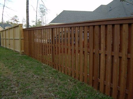 Custom Made Wood Fence Designs From Privacy To Straight Picket Fence Shadow Box Fence Fence Design Wood Fence Design