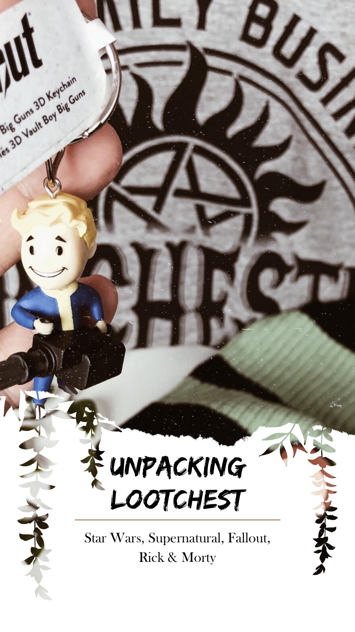 Unpacking Lootchest Dezember Let S Loot Mit Zwei Lieblingsfandoms Dezember Star Wars Mein Liebling
