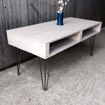 6b17890bf85d Pallet Coffee Table With Hair Pin Legs More