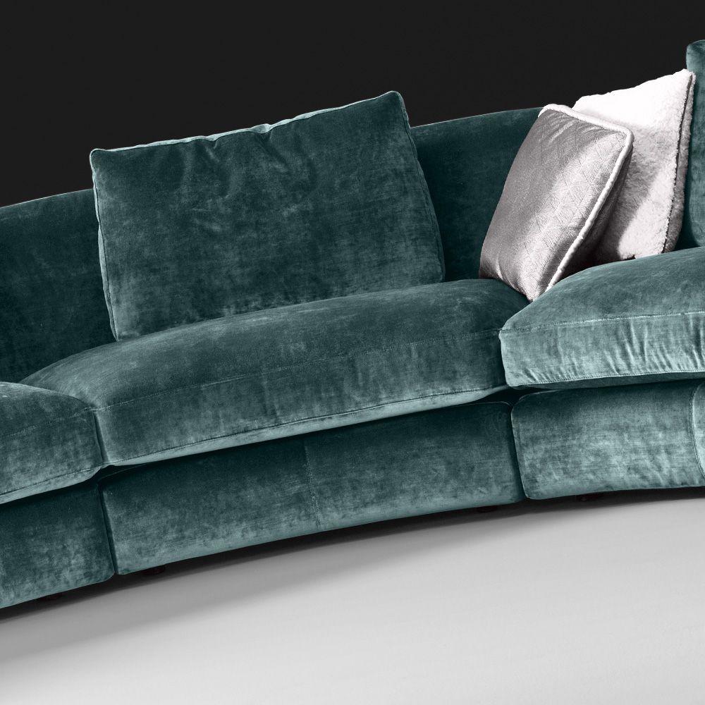 Superieur High End Large Velvet Modular Corner Sofa
