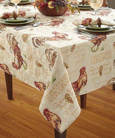 Look at this #zulilyfind! Festive Rooster Tablecloth #zulilyfinds