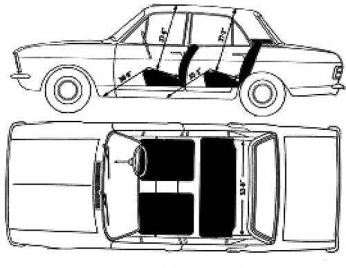 Blueprints > Cars > Ford > Ford Cortina Mk. II (1968