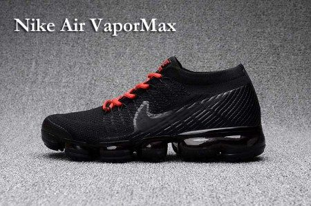 purchase cheap de57f 63e0d Nike Air Vapormax Flyknit Shoes Mens Air Max 2018 Black Red | Air ...