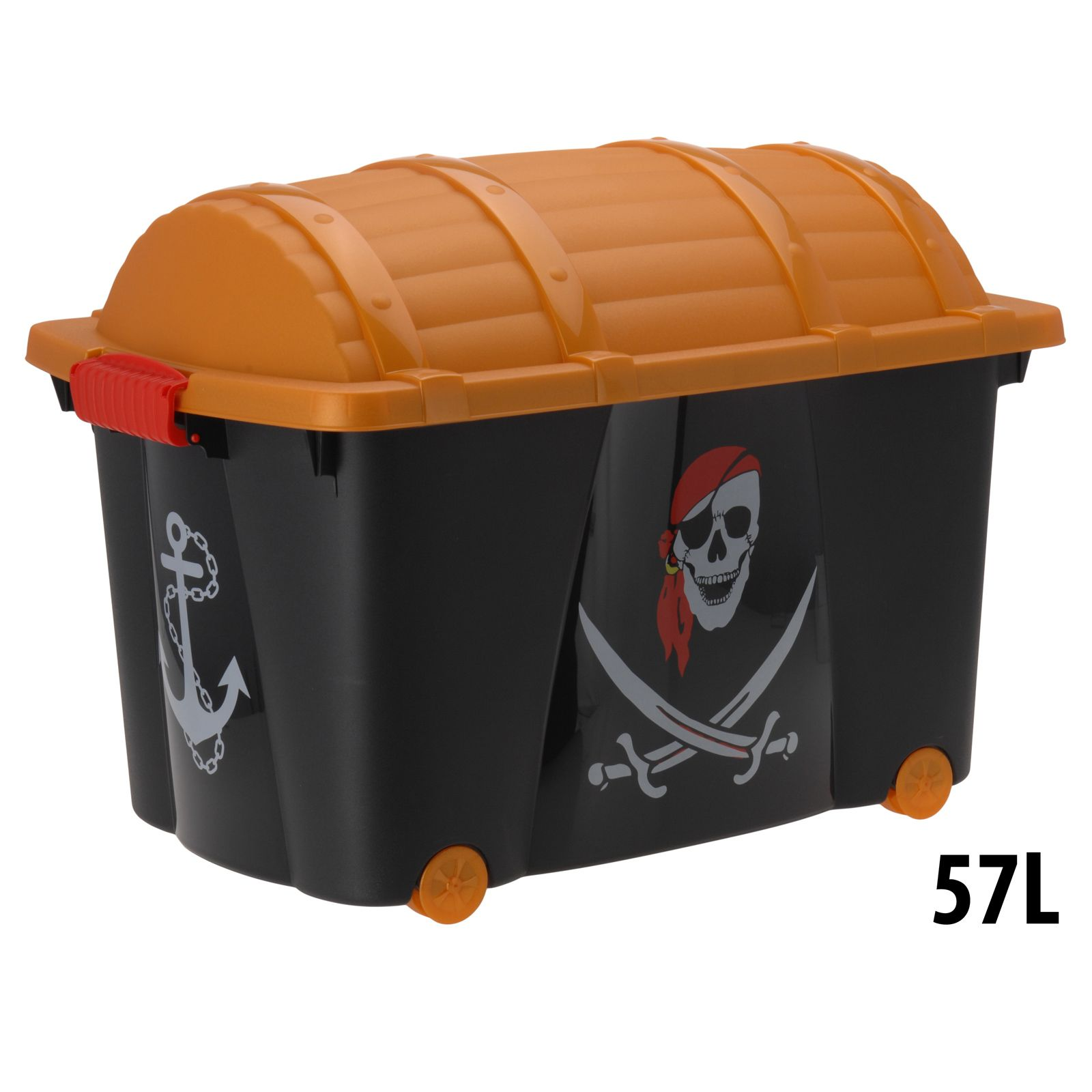 Container Plastic Box Toys | Pirate Childrens Plastic Storage Container Toy  Chest Box With Wheels .