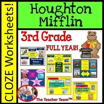Houghton Mifflin Reading 3rd Grade Worksheets Bundle Full Year Houghton Mifflin Reading Third Grade Reading Houghton Mifflin