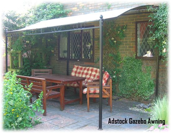 Details About ADSTOCK GARDEN PATIO LEAN TO GAZEBO AWNING SHELTER WITH  DELUXE 250g/m2 CANOPY